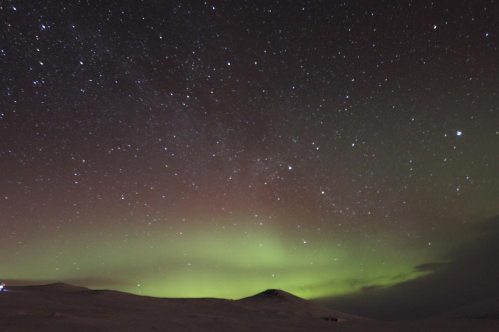 第一晚就見到北極光!