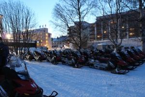 芬蘭間 Lapland Safari連雪車都排列得井井有條