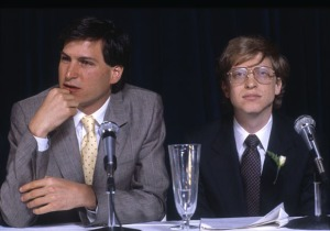 Steve Jobs & Bill Gates, 1985