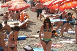 at Budva beach