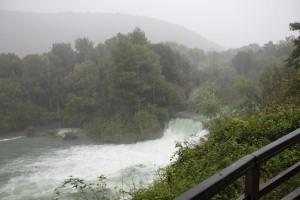 天色沉沉的 Krka National Park