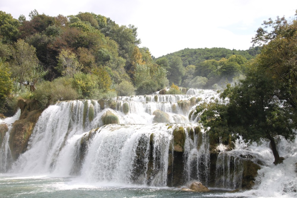 Krka National Park 內的瀑布