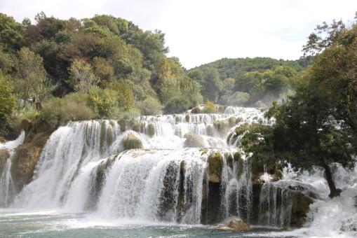 Krka National Park 內的瀑布