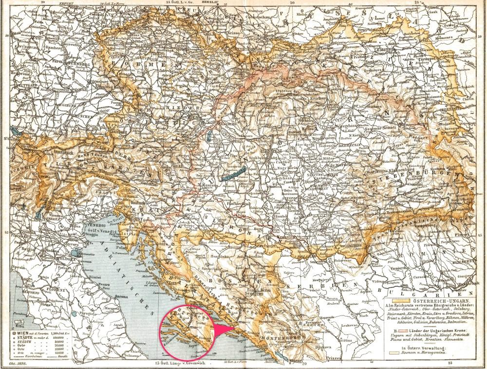 19世紀時的地圖已經顯示 Neum 將克羅地亞分開兩截
