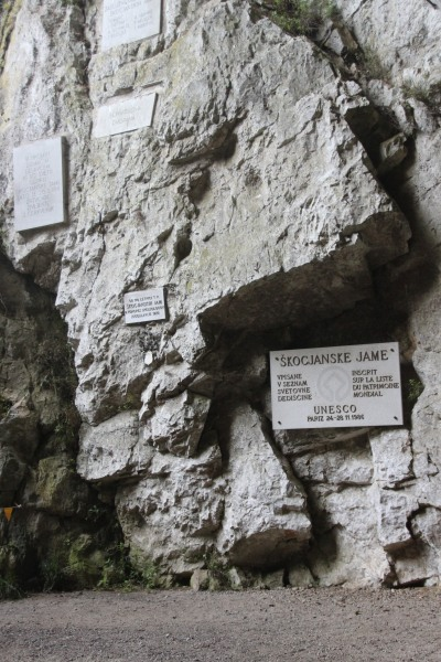 來到 Škocjan Caves 出口有 UNESCO World Heritage 的標示