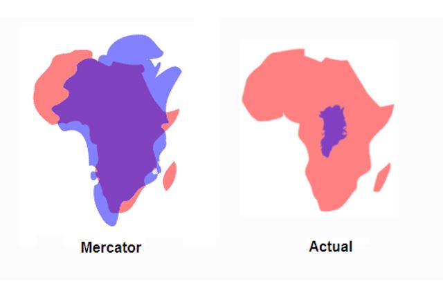 Greenland 的面積其實比在世界地圖上看起來小得多