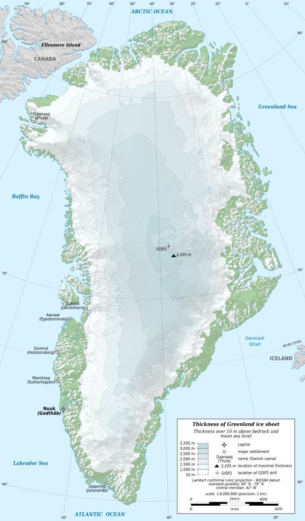 Greenland 有超過八成地方是被冰覆蓋