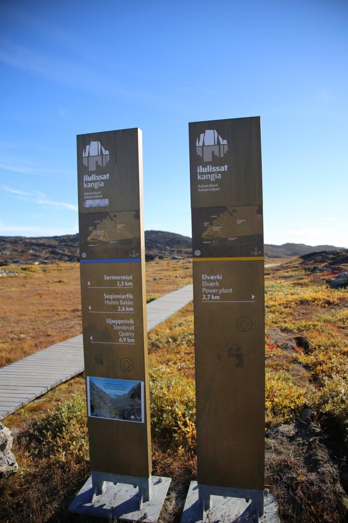 位於 Ilulissat 西南的自助行山徑起點