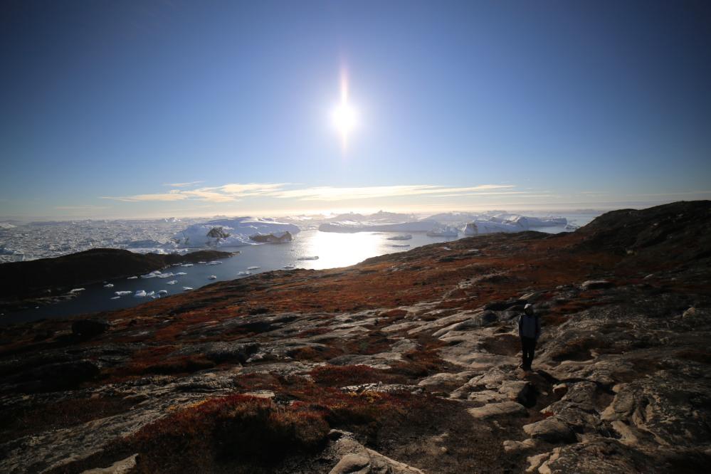 好天氣下看到的冰山
