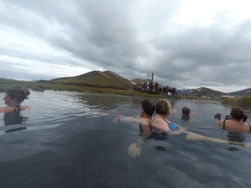 Landmannalaugar 的天然溫泉