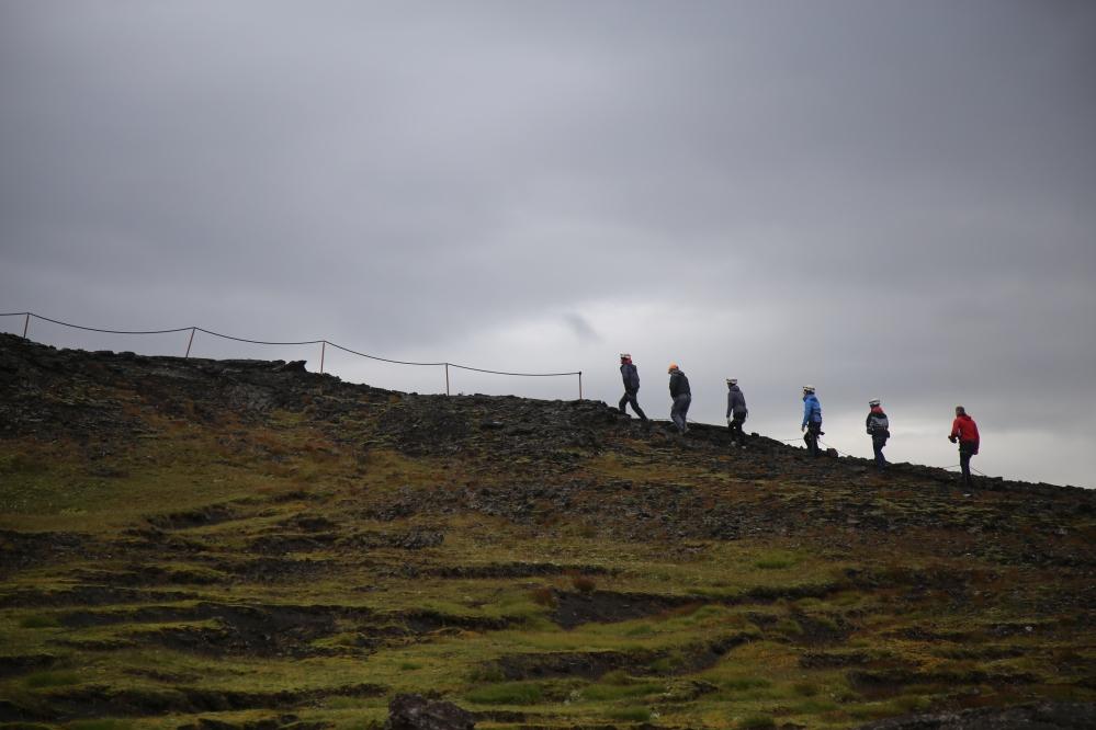 從 base camp 登上火山的入口