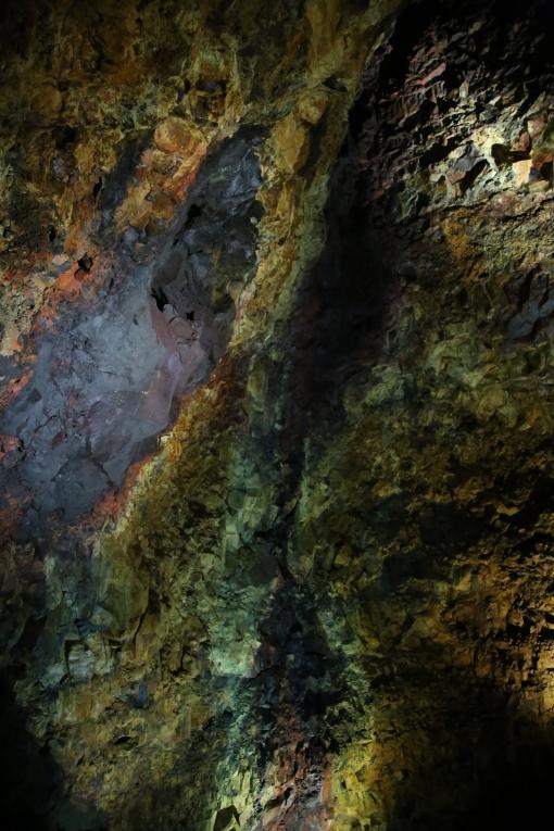 火山內奇妙的顏色