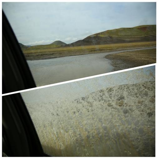 去 Landmannalaugar 一定要坐能夠翻山涉水的越野四驅車