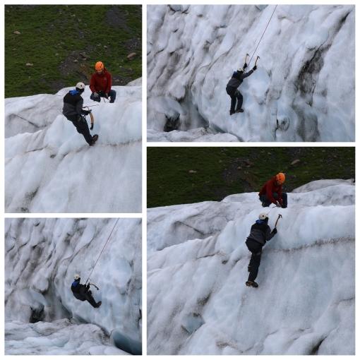 小弟爬冰山的醜態